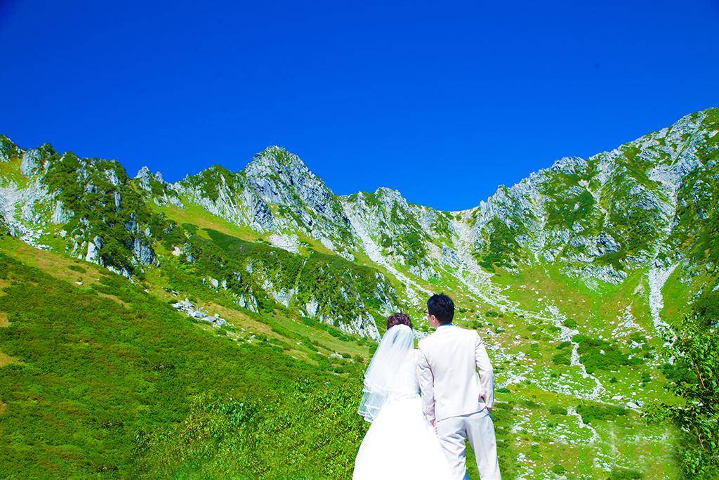 大好評 中央アルプス山頂フォトウェディング